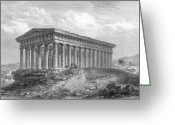 1833 Greeting Cards - Greece: Temple Ruins Greeting Card by Granger