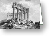 1833 Greeting Cards - Greece: The Parthenon 1833 Greeting Card by Granger