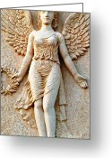 Greek Sculpture Greeting Cards - Greek Angel Greeting Card by Therese Alcorn