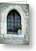 Old Wall Greeting Cards - Greek Chapel Greeting Card by Joana Kruse