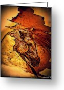 Greek Sculpture Digital Art Greeting Cards - Greek Horse Greeting Card by Paulo Zerbato