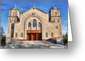 Cities Greeting Cards - Greek Orthodox Church II Greeting Card by Steven Ainsworth