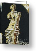 Greek Sculpture Painting Greeting Cards - Greek Roman Greeting Card by Wayne LE ONE