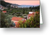 Parthenon Greeting Cards - Greek Village  Greeting Card by Emmanuel Panagiotakis