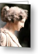 _york Greeting Cards - Greek Woman Greeting Card by Ilias Athanasopoulos
