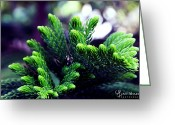 Aunit Sharma Greeting Cards - Green Greeting Card by Aunit Sharma