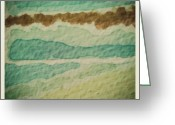 Background Greeting Cards - #green #brown #watercolor #background Greeting Card by Cristina Sferra
