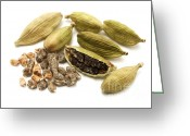 Flavoring Greeting Cards - Green cardamom Greeting Card by Fabrizio Troiani