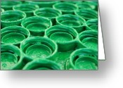 Macro Greeting Cards - Green Greeting Card by Dan Holm