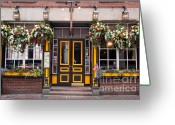 Suffolk County Greeting Cards - Green Dragon Tavern Greeting Card by Susan Cole Kelly