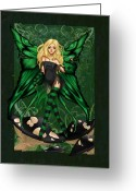 Kimicookie Greeting Cards - Green Fairy of Poison Greeting Card by KimiCookie Williams
