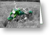 Guywhiteleyphoto.com Greeting Cards - Green Fat Boy Greeting Card by Guy Whiteley