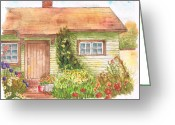 Scenary Greeting Cards - Green-house Greeting Card by Carlos G Groppa