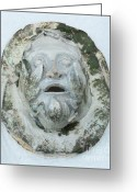 Man Ceramics Greeting Cards - Green Man 3 Greeting Card by John Keasler