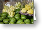 Cebucity Greeting Cards - Green Mangoes Greeting Card by James Bo Insogna
