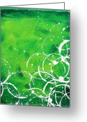 Contemporary Artist Greeting Cards - Green Riches by MADART Greeting Card by Megan Duncanson