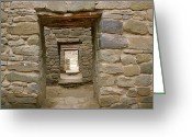 Pre Columbian Antiquities And Artifacts Greeting Cards - Green Sandstone Walls And Multiple Greeting Card by Rich Reid