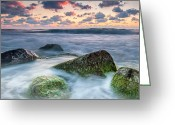 Evgeni Dinev Greeting Cards - Green Stones Greeting Card by Evgeni Dinev