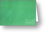 Linen Greeting Cards - Green Textile Greeting Card by Henrik Lehnerer