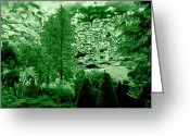 Contemplation Digital Art Greeting Cards - Green Zone Greeting Card by Will Borden