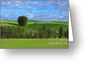 Spokane Greeting Cards - Greener Pastures Greeting Card by Reflective Moments  Photography and Digital Art Images