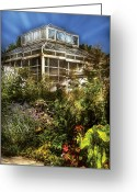 Gardeners Greeting Cards - Greenhouse - The Greenhouse III Greeting Card by Mike Savad