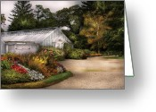 Greenhouse Greeting Cards - Greenhouse - To the greenhouse Greeting Card by Mike Savad