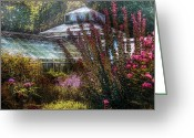 Gardeners Greeting Cards - Greenhouse - The Greenhouse Greeting Card by Mike Savad