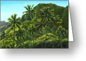 Coconut Greeting Cards - Greens of Kahana Greeting Card by Douglas Simonson
