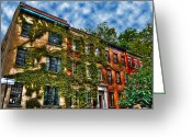Greenwich Greeting Cards - Greenwich Village Ivy Greeting Card by Randy Aveille