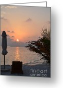 Beach Pictures Greeting Cards - Greeting a New Day Greeting Card by Corinne Rhode