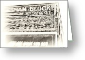 Artography Greeting Cards - Gresham Block Calgary Greeting Card by Jayne Logan