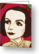 Greta Garbo Greeting Cards - Greta Garbo Greeting Card by Ana Dragan