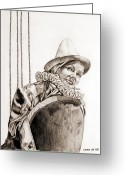 Greta Garbo Greeting Cards - Greta Garbo Greeting Card by Carmen Del Valle