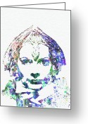 Greta Garbo Greeting Cards - Greta Garbo Greeting Card by Irina  March