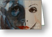 Greta Garbo Greeting Cards - Greta Greeting Card by Paul Lovering