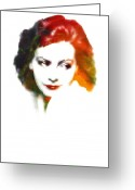 Greta Garbo Greeting Cards - Greta s lips Greeting Card by Stefan Kuhn