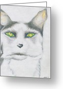 Lime Drawings Greeting Cards - Gretta Greeting Card by Kim Sy Ok