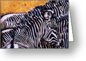 Wildlife Art Ceramics Greeting Cards - Grevy Colt Greeting Card by Dy Witt
