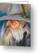 Sorcerer Greeting Cards - Grey days Greeting Card by J W Baker