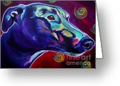 Acrylic Framed Greeting Cards - Greyhound -  Greeting Card by Alicia VanNoy Call