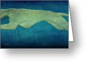 Evansville Greeting Cards - Greyhound Greeting Card by Sandy Keeton