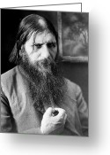 Russian Revolution Greeting Cards - Grigori Rasputin, Russian Mystic Greeting Card by Ria Novosti