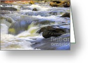Escarpment Greeting Cards - Grindstone Rapids Greeting Card by Charline Xia