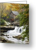 Stream Greeting Cards - Grist Mill No. 2 Greeting Card by Harry H Hicklin