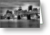 Bridge Prints Greeting Cards - Gritty City Greeting Card by Steven Ainsworth
