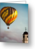 Air Greeting Cards - Gritty McDuffs Hot Air Balloon Greeting Card by Bob Orsillo