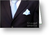 Tuxedo Greeting Cards - Grooms Torso Greeting Card by Carlos Caetano
