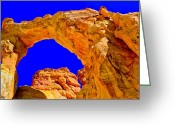 Staircase Greeting Cards - Grosvenor Arch Greeting Card by Chad Dutson