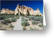 Grand Staircase - Escalante National Monument Greeting Cards - Grosvenor Arch Greeting Card by Peter Wey